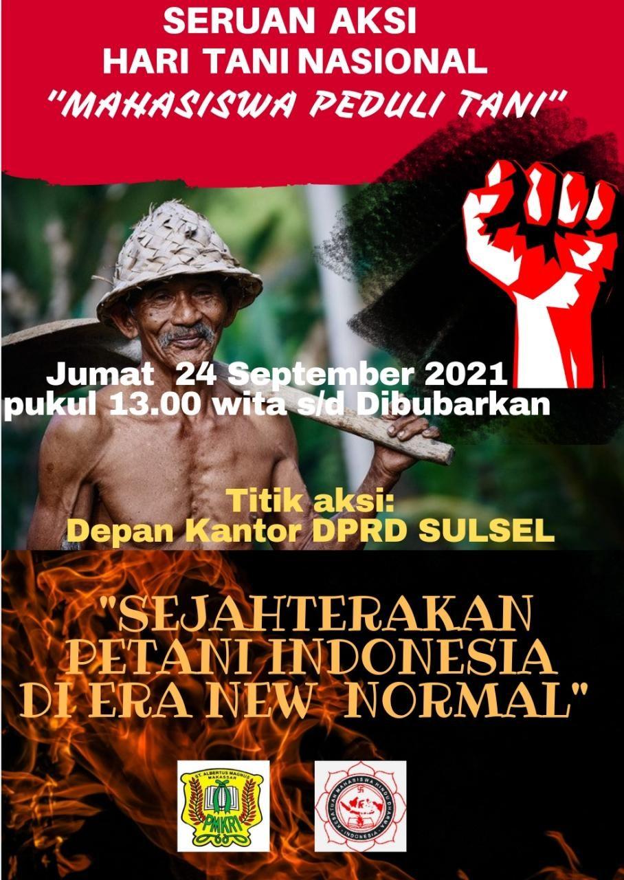 Momentum Hari Tani Nasional, PC KMHDI Makassar dan PMKRI Makassar Tegaskan 4 Tuntutan